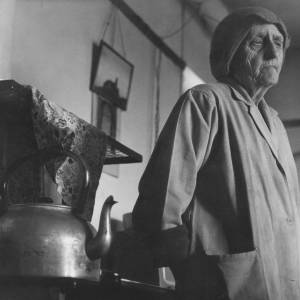 Elderly Welsh Woman and Kettle