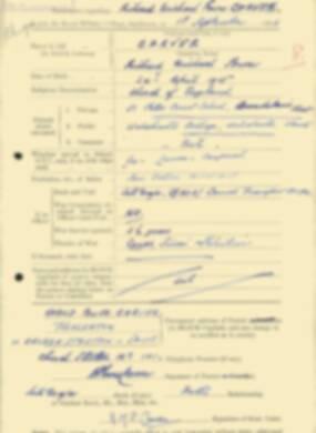 RMC Form 18A Personal Detail Sheets Feb & Sept 1933 Intake - page 167