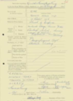 RMC Form 18A Personal Detail Sheets Aug 1935 Intake - page 125