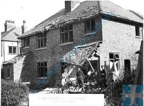 9 Manor Avenue, May 1941 (rear of house)