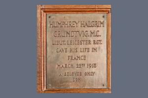 Memorial Plaque - Grundtvig