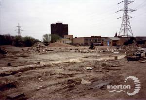 Merton Priory Excavations, looking N.E