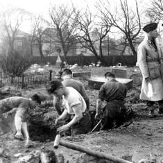 Bomb Disposal Team at Harton Cemetery