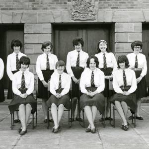Prefects outside Ross County Secondary Modern School, April 1965