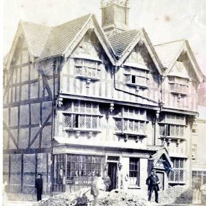 High Town, Hereford,Old House, c1890