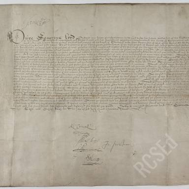 Copy of the Confirmation by James VI of the Seal of Cause and ratification by James IV