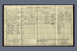 1911 Census - 43 Kirkley Road, Merton