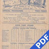 19480911 Official Programme Charlton Athletic Home
