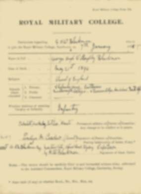 RMC Form 18A Personal Detail Sheets Jan 1915 Intake - page 33