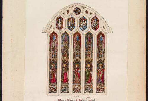 Chancel window at St Petroc, Padstow