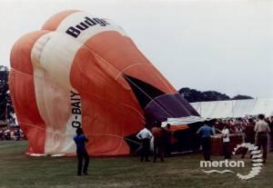 Hot air balloon at the Merton Show, Morden Park