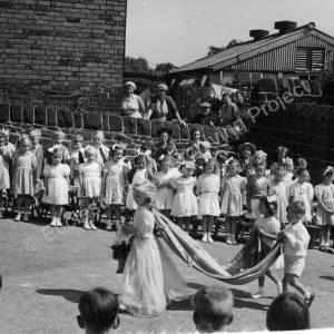 May Queen Parade Grenoside Junior & Infant School Early 1950's.
