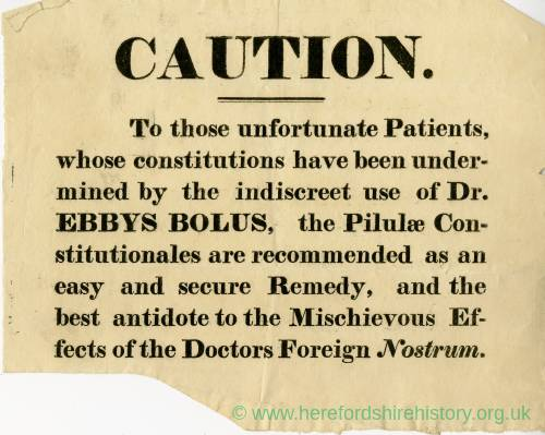 Medical Caution, Advert (undated)