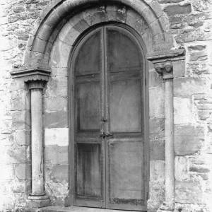 Acton Beauchamp church, south door, 1928