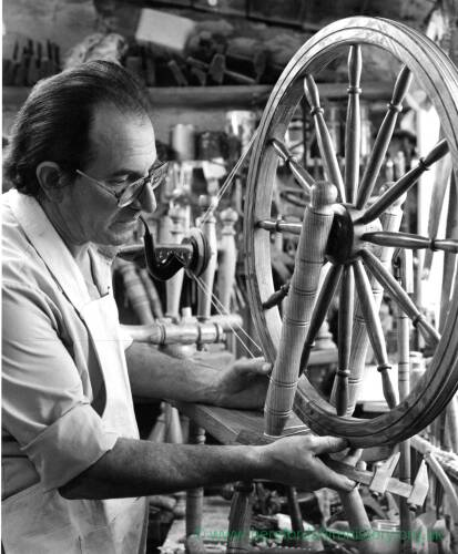 Gordon Clarke, creator of spinning wheels.