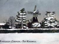 The windmill under snow, Wimbledon Common