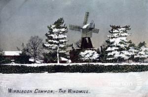 The windmill under snow, Wimbledon Common
