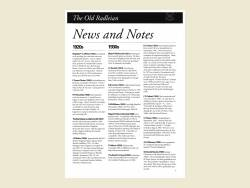 The Old Radleian News+Notes 1