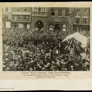 Drum head service, High Town, Hereford, 7th September 1919