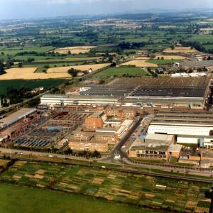 Aerial view of Wiggins factory in Hereford.