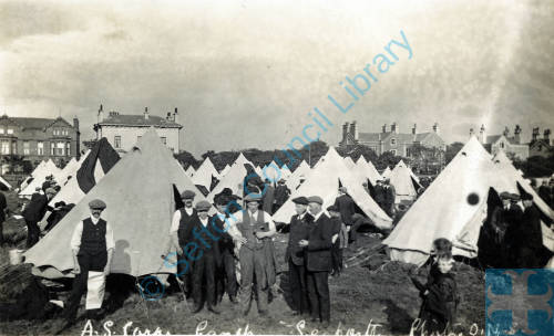 A.S. Corps Camp on Shore Field, Crosby Road, 1914
