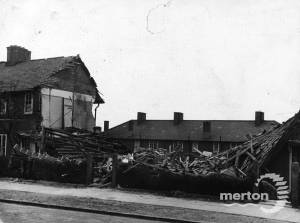 Bomb damage at the St. Helier Estate
