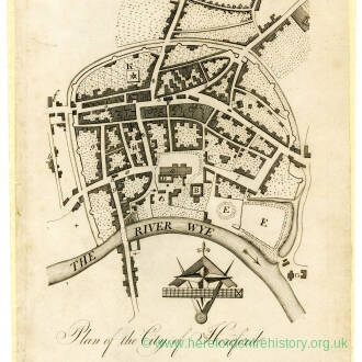 Plan of the City of Hereford 1796