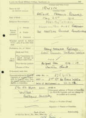 RMC Form 18A Personal Detail Sheets Aug 1934 Intake - page 116
