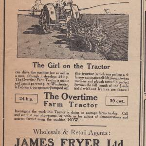 Girl on the Tractor advert.jpg