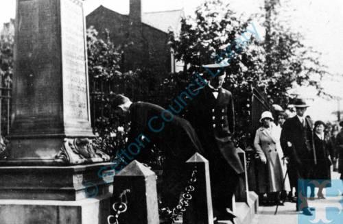 Litherland War Memorial on Armistice Day