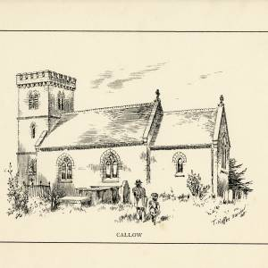 Callow Church, Herefordshire, print