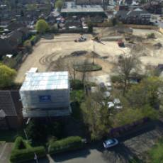 2019 04 April Aerial View Construction of All Saints View 2 Houghton Regis