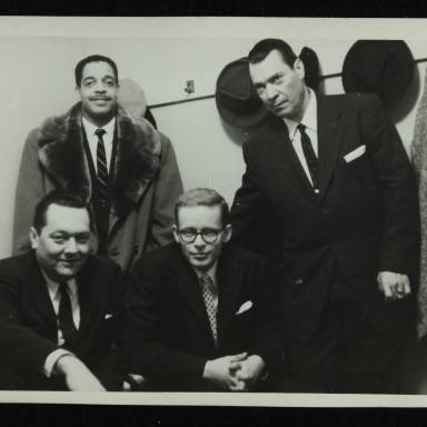 Gene Schroeder, Leonard Gaskin, Bob Wilber and Robert 'Cutty' Cutshall (left to right)