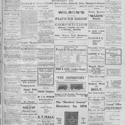 Hereford Journal - 8th August 1914