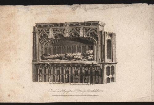 Tomb in Plympton St. Mary Church, 1809, Devon