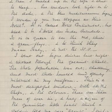 Elsie Inglis to Amy Inglis Simson - En Route to Serbia, April 1915 (Part 4)