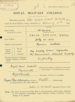 RMC Form 18A Personal Detail Sheets Feb & Sept 1922 Intake - page 94