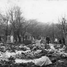 Crater in Harton Cemetery