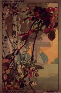 London Transport poster featuring the windmill, Wimbledon Common