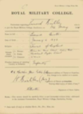 RMC Form 18A Personal Detail Sheets May 1915 Intake - page 15