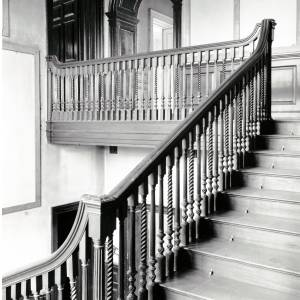 Aramstone House, stairwell, 1956