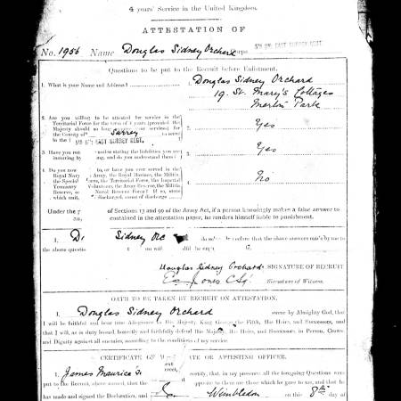 D Orchard Service Papers