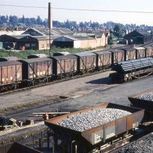 Barrs Court railway sidings, Hereford, 1972