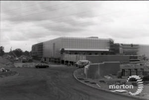 Savacentre under construction: View from Christchurch  Road
