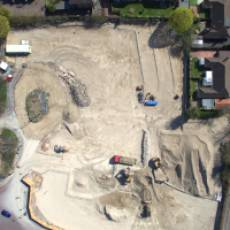 2019 04 April Aerial View Construction of All Saints View 8 Houghton Regis