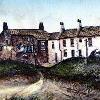 Southport, the original hotel, watercolour