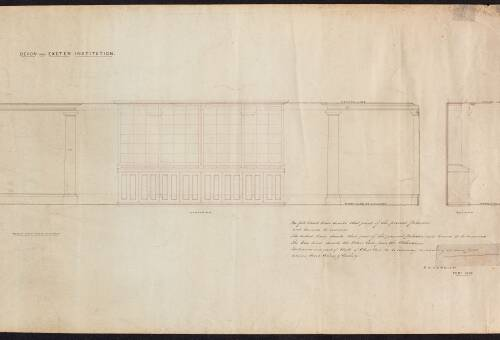Elevation and Section of the Devon and Exeter Institution
