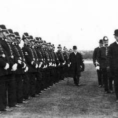 Chief Constable Scott inspecting Police