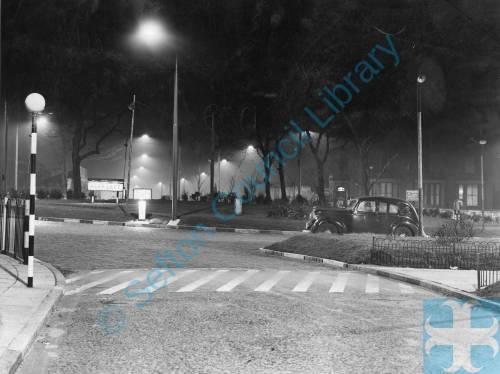 Bootle, Breeze Hill traffic island, 1939
