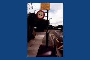 Lower Morden Lane: street signs